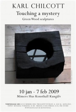 Touching a mystery. Green Wood sculptures